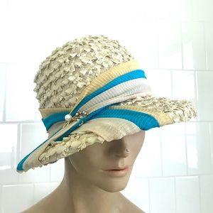 Vintage 1950's straw hat by Kutz Nannette